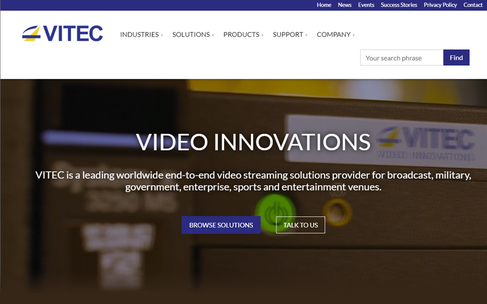 09/2019: Vitec Video Innovations